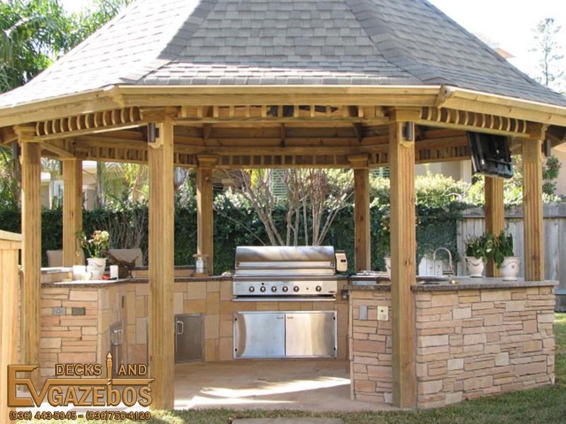 Outdoor Kitchens Fireplaces Ev Decks Gazebos